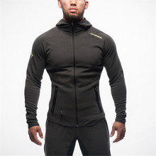 2016 Gymshark New Crime Running Fitness Clothing Men Hoodies And gold Medal Sports Fitness Zipper Unlined Upper Garment
