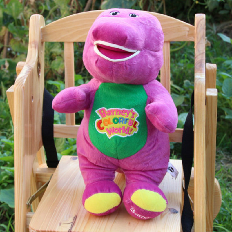 2016 Hot Sale Free Shipping 30cm/45cm Height Singing Barney Plush Toy Doll For Children Birthday Gift Purple Color(China (Mainland))