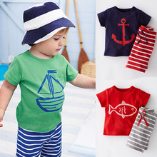 2016 Baby Boy Clothing Set Children Sport Suits Children's Clothing Sets For Kids Cotton T-Shirt+Pant Fantasias Infantis CF101(China (Mainland))