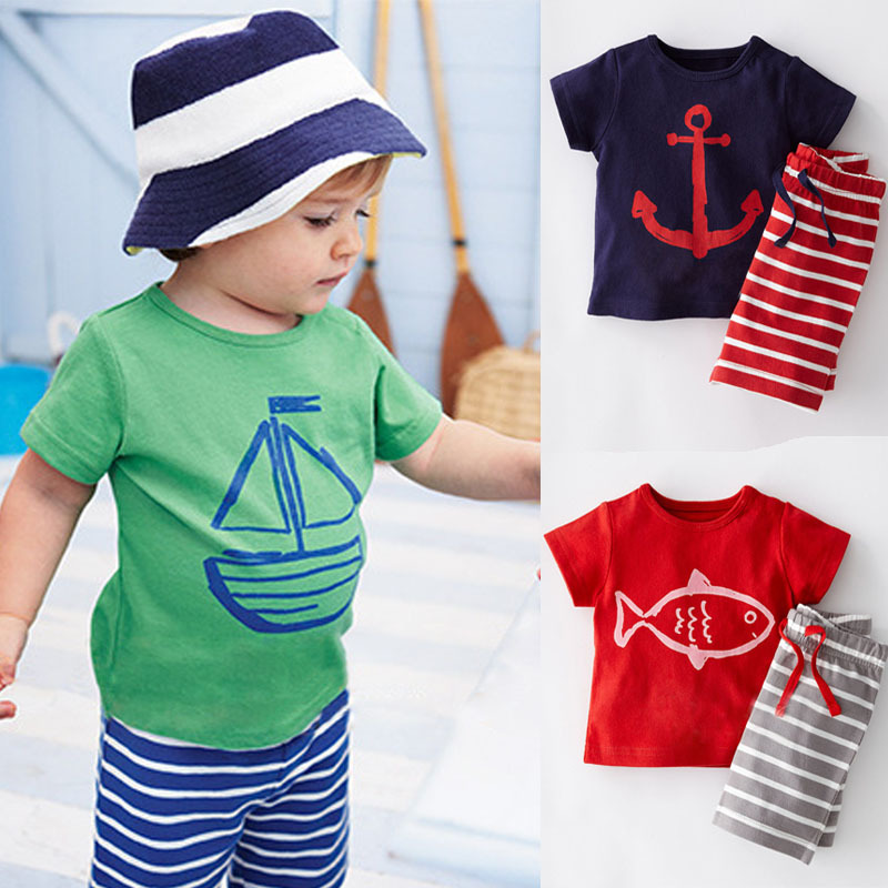 Summer 2015 Baby Boy Clothing Set Children Sport Suits 100% Cotton Children's Clothing Set T Shirt+Pant Fantasias Infantis CF101(China (Mainland))