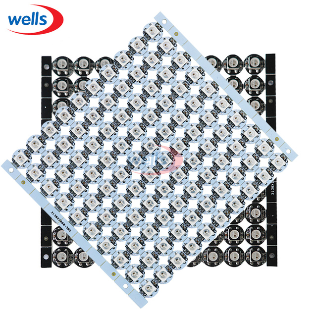Newest 10~100 pcs 5V WS2812B ws2812 LED chips  With White/Black PCB Heatsink (10mm*3mm) SMD 5050 RGB WS2811 IC Built-in