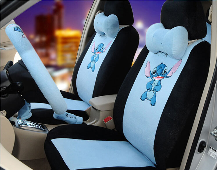 18pcs The New Cute Cartoon Car Seat Cover Seating In