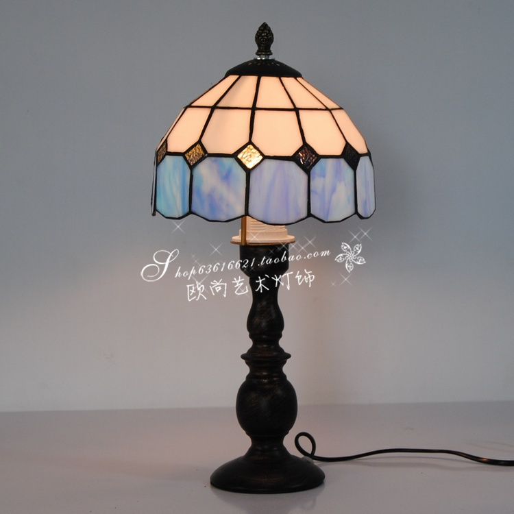 10 inch blue and white tiffany lamp aisle lights bedroom for 10 inch table lamp