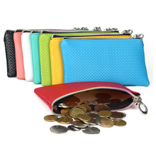 New Fashion Pu Leather Coin Purse Women Wallet Daily Storage Change Purse Ladies Handbag Phone Bag