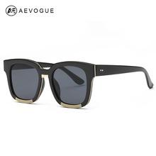 AEVOGUE Sunglasses Women Brand Designer Acetate Frame Unisex Sun Glasses Classic Flat Coating Lenses With Box UV400 AE0373