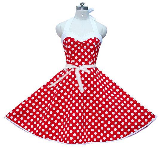 women dress plus size 6l long vintage dress Audrey Hepburn Swing Polka Dot Women Retro Rockabilly 50s 60s Vintage Dress(China (Mainland))