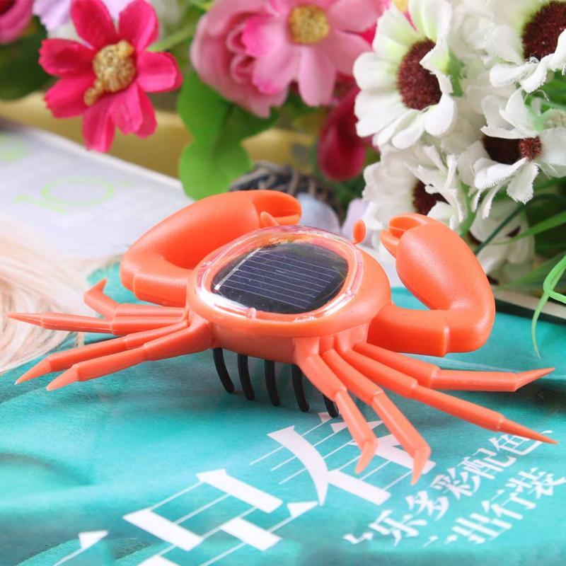 New Creative Solar Powered Mini Running Crab Robot for Children Toys Gift Education Solar Crab Toys