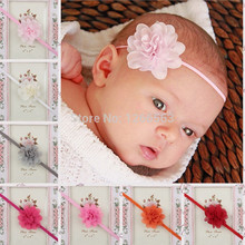 New Fashion chiffon Flower hair wear Accessories Soft Elastic Headband Hair Bands for Baby Kids Girls Headbands