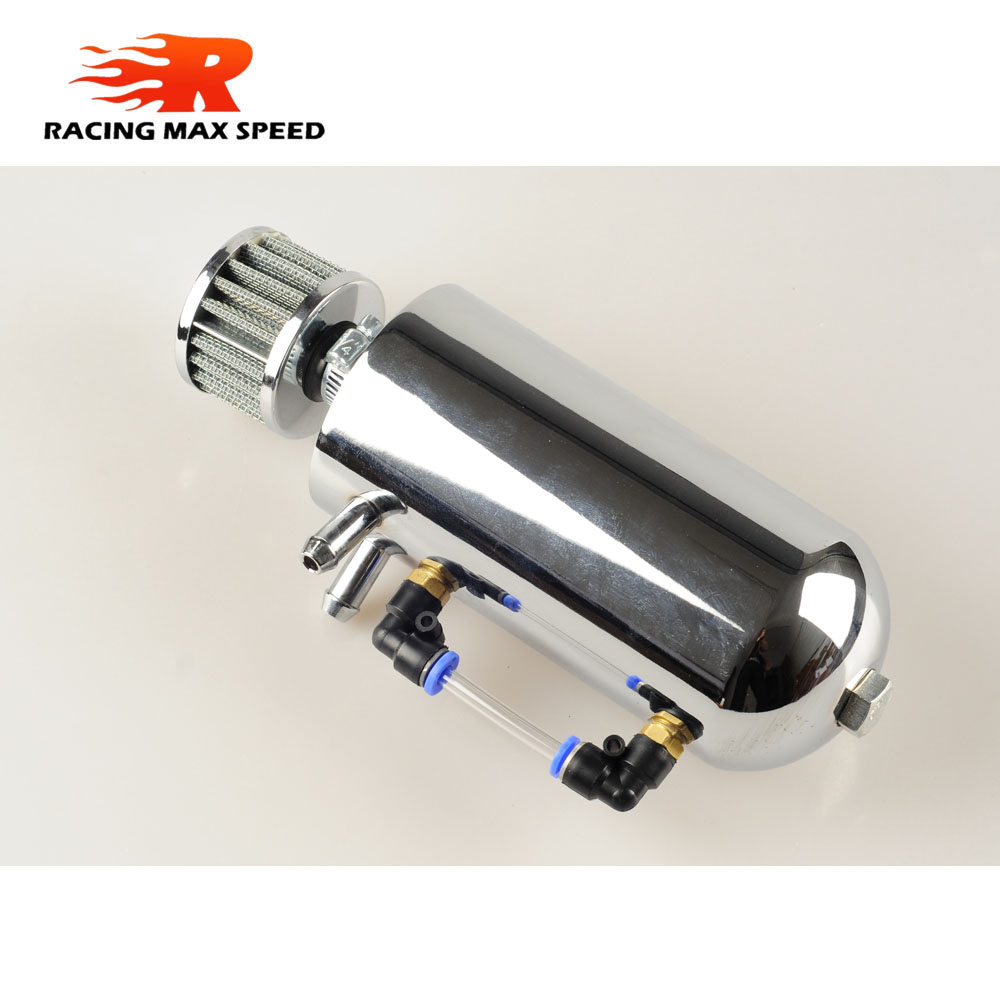 Universal Silver Chrome 500ML Oil Catch Tank with Air Filter(China (Mainland))