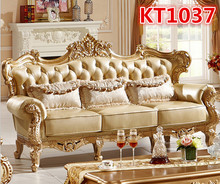 Golden color antique style sofa set KT1037(China (Mainland))