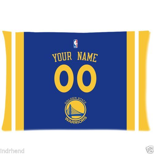 NEW Custom Golden State Warriors BasketBall Pillow Case With Your Name and Numbers(China (Mainland))