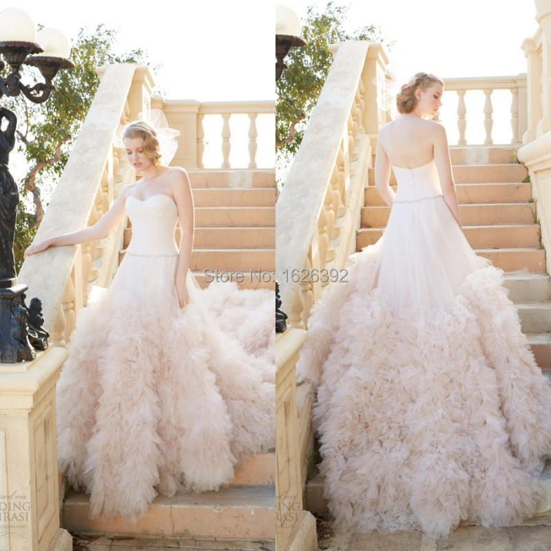 Expensive Wedding Gift For Bride : Expensive Gorgeous Light Pink Wedding Romantic Dresses For Bride 2015 ...