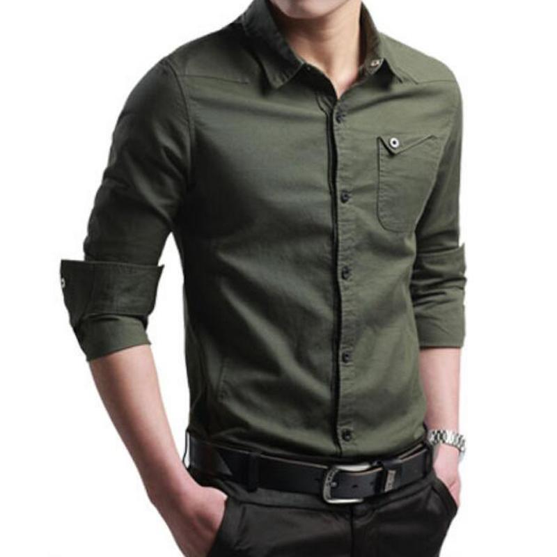 Shirt european casual style 2016 men autumn sping cotton for European mens dress shirts