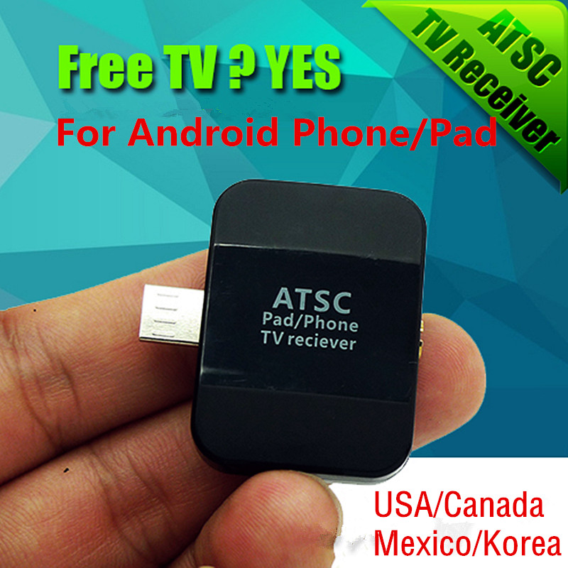 New ATSC USB HD Digital TV Receiver Tuner Satellite Receiver TV Stick For Android Phone/Pad, Work in USA/Canada/Mexico/Korea(China (Mainland))