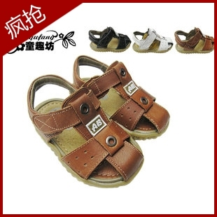 Boy children shoes 2013 summer male child baby shoes toddler shoes leather sandals