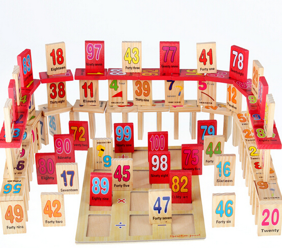 1 Package 10Number Natural Educational wood toys digital Math Toy Teaching Version Kids Early Learning Gift - BeiRa International trade co., LTD store