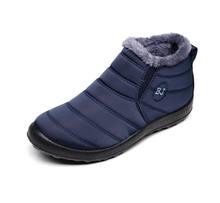 MEMUNIA 2019 kar botları kadın düz pamuklu ayakkabılar kalın kürk yuvarlak ayak katı renk kış çizmeler kadın ayakkabıları sıcak aşağı kar botları(China)