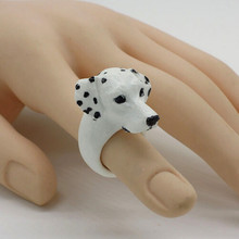 Fashion 2016 dalmatian spotty dog figure ring,styling decoration,japan animal collection article puppy birthday gift fun toy