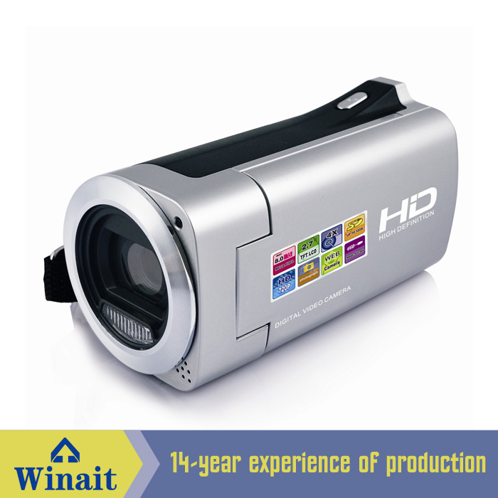 HD720p 8MP 4x Zoom Digital Video Camera Electronic Anti-Shaking Camcorder DV Support SD L3FE