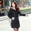 Perempuan Gumpalan dingin menengah panjang turun kapas ditambah ukuran jacket Wanita wanita ramping jaket Dan mantel