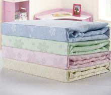 "New 90x90/ 150x200/ 180x200/ 200x230"""" Title& Sword Stuff Bamboo Towel Blanket/PlaidCotton Towelling Coverlet +Green Yellow(China (Mainland))"