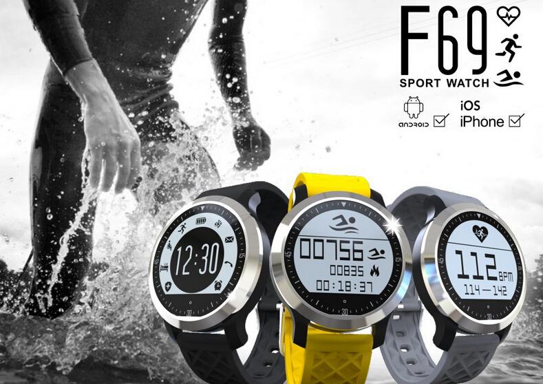 F69 Waterproof IP68 Sports Watch – Pulsometer/Pedometer/Swimming