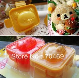 New 2pcs/set Rilakkuma Shape Rice Mold Sushi Boiled Egg Mould Tool DIY(China (Mainland))
