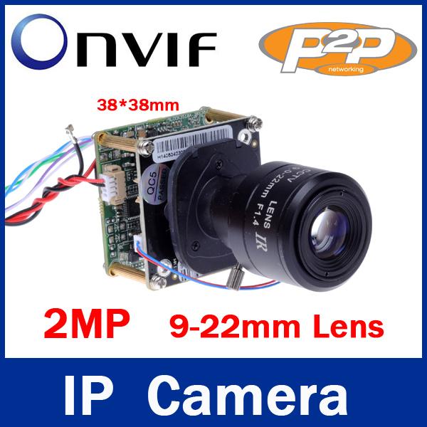 P2P IR-CUT Filter 2MP / 2 Megapixel 1920*1080P 9-22mm Varifocal Zoom Lens Micro Onvif Hd Ip Camera 1080P Mini IP Camera