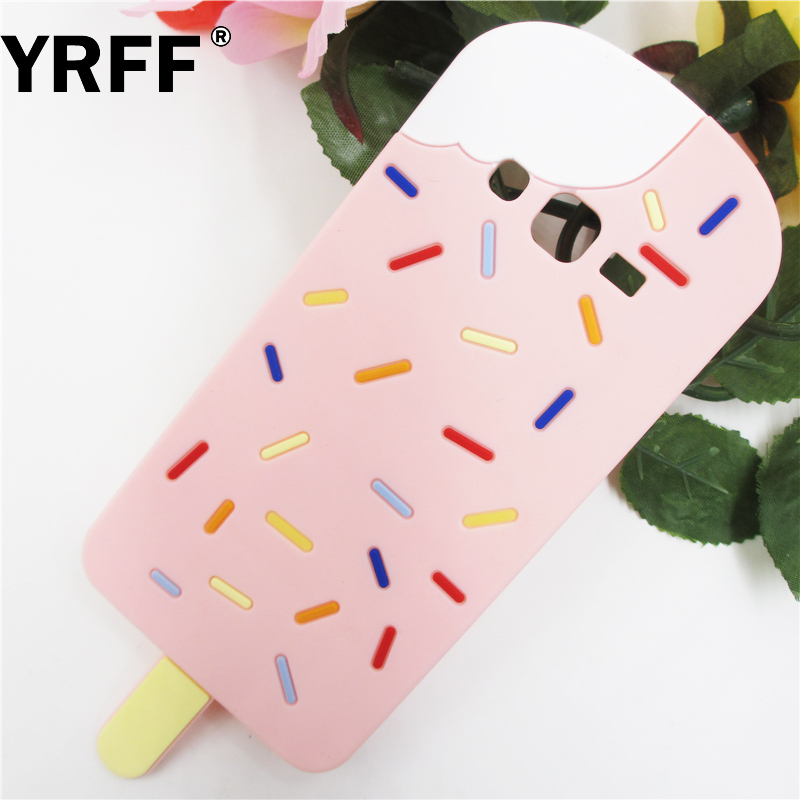 YRFF New ice cream rubber Phone case cover Coque Fundas Samsung galaxy S6 G9200 S7 G9300 G530 case Silicon Protective cover