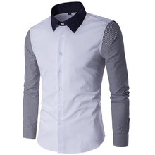 Buy Men Shirt Casual Long Sleeve Mandarin Collar Slim Fit Shirt Men Korean Business Mens Dress Shirts Men Clothes DM#6 for $11.21 in AliExpress store