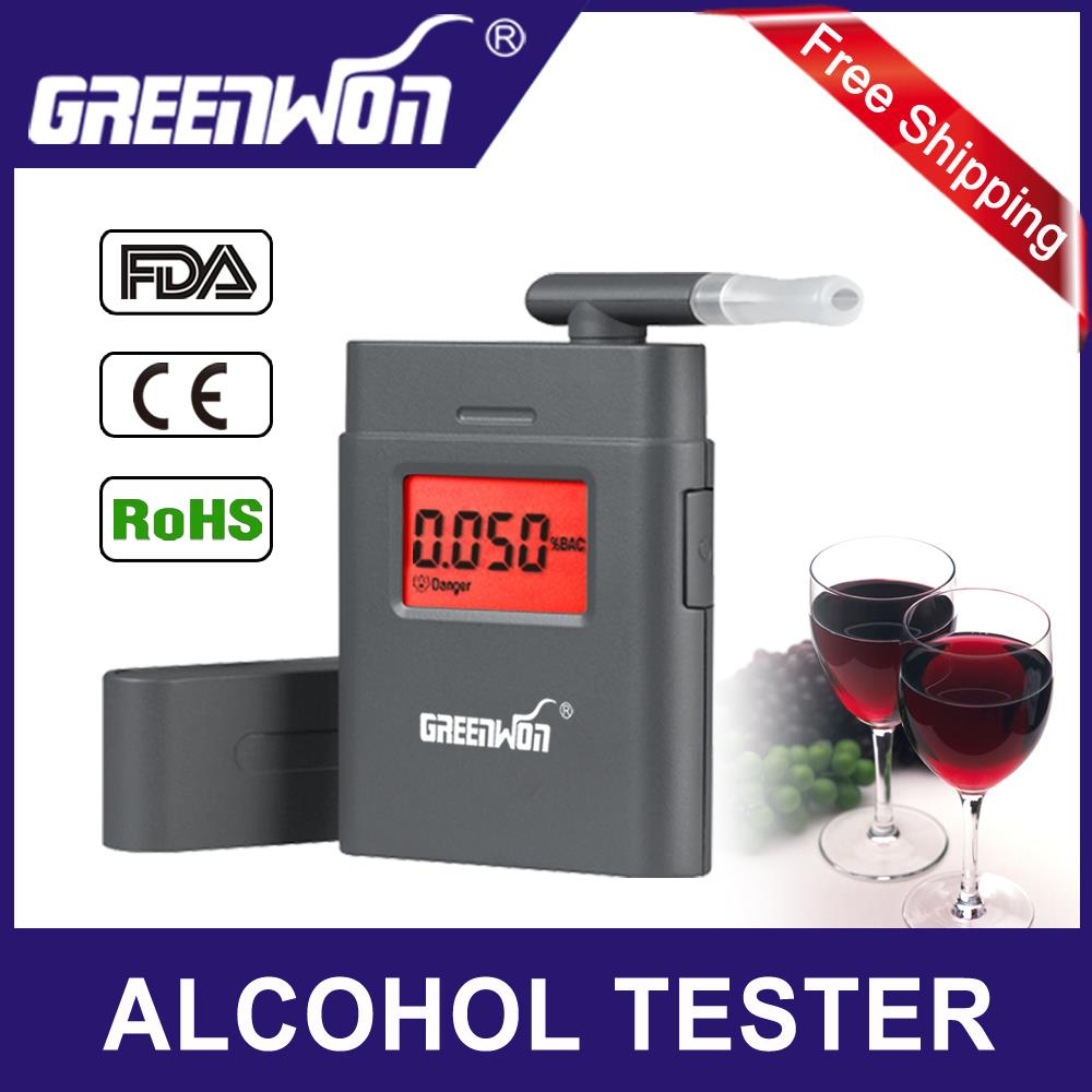 HOT SALE Portable Breath Alcohol Police Analyzer Digital Breathalyzer Tester Body Alcoholicity Meter Alcohol Detection(China (Mainland))