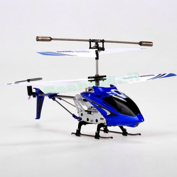 Free shipping Syma S107g 3.5 Channel 3CH Mini Indoor Co-Axial Metal RC Helicopter w/ Built in Gyroscope cardboard box Blue 53(China (Mainland))