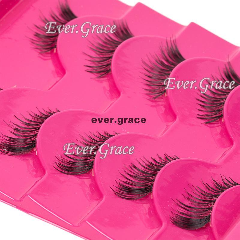 5 Pairs Handmade Extension Fashion Half Eye Lashes Mini Corner Eyelashes Natural(China (Mainland))