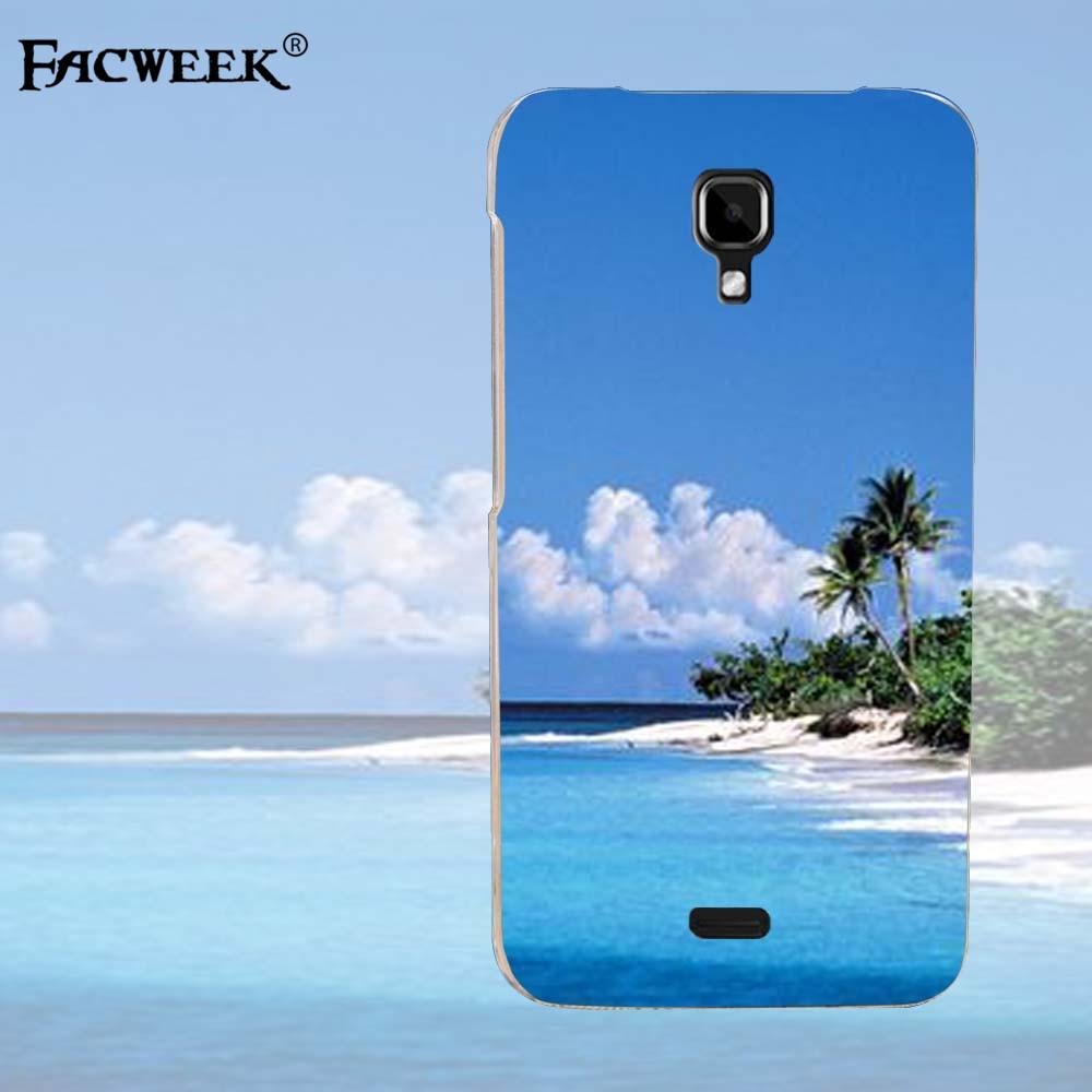 Burning Desert Sun Mobile Phone Shell Fundas Coque For Explay Vega 4.5''inch Ocean Beach Pattern Back Cover Capa Cell Phone Case(China (Mainland))