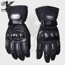 Keep warm motorcycle gloves winter men motocross glove 3D ATV Snowproofing Protective Gears Windproof parts 3 colors optional