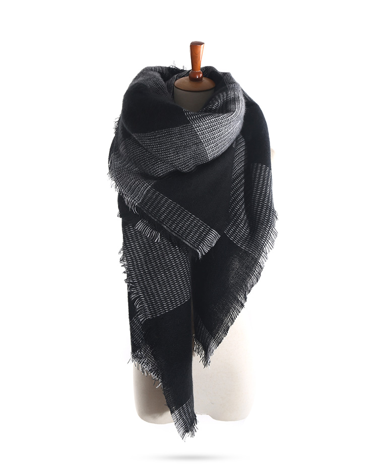 Za arrival wool blend blanket oversized tartan scarf wrap shawl plaid checked pashmina 180 130cm - Grosse echarpe plaid ...