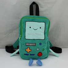 "New Arrivals 11""Plush Backpacks Adventure Time BMO Beemo Plush Book Bag Small one Christmas Gift(China (Mainland))"