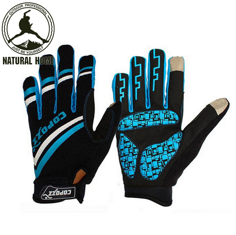 [NaturalHome] Brand Bicycle Racing Sport Breathable Mtb Bike Gloves Full Finger Men Cycling Gloves Luvas Para Ciclismo Guantes(China (Mainland))