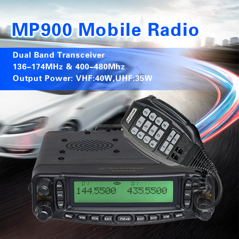 2013 new launch mobile tranceiver ZASTONE MP-900 dual band 136-174MHz&400-470MHz mobile radio with Air band(RX):AM109-135.995MHz(China (Mainland))