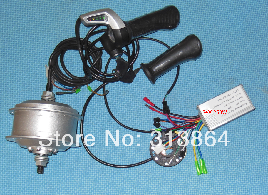 Electric Bicycle Conversion Kit included 24V 250W rear wheel motor, WuXing throttle, PAS, Li-ion bldc controller(China (Mainland))