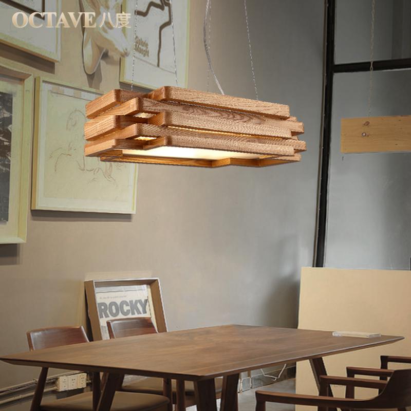dining room bedroom hanging lamp lighting rectangular solid wood dining table lamp ikea nordic. Black Bedroom Furniture Sets. Home Design Ideas