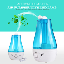 25W Tabletop 3L Water Bottle Mini Home Ultrasonic Humidifier Purifier with LED Lamp Air Freshener Diffuser(China (Mainland))