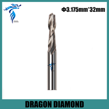 High Quality 3.175*32MM Carbide CNC End Mill Bits, Double Flute Milling Cutter, Woodworking Tools, Carving Engraving Tool sale