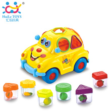 Baby Car Toy with Flashing Front and Back Lights and Music,Bump and Go Learn Fruit Shape Sorter, Electric Cars For Baby Children(China (Mainland))