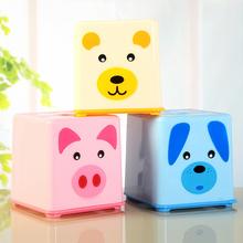Square Cartoon Pattern Paper Towel Tube Tissue Holder Box H0010288(China (Mainland))