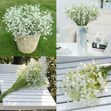 48Pcs/lot Gypsophila Baby Breath Fake Silk Artificial Flowers Plant for Home Wedding Party Home Decoration Products(China (Mainland))