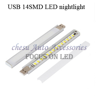 new style USB 14SMD LED nightlight touch switch portable dormitory light table lamp in free shipping(China (Mainland))