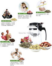 Promotion!New 600ml Glass Teapot,3 Kinds Tea Pot For Your Choice.High-quality Teaset,Integrative and Convenient Office Tea Set!