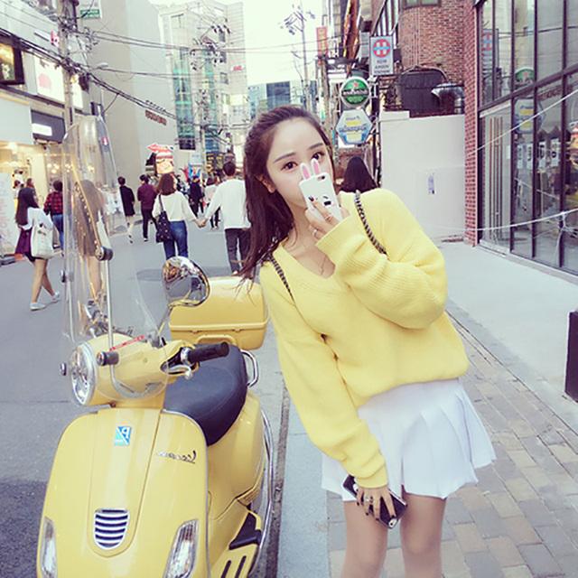 Горячая распродажа 2015 новый осень зима женщины свитер корейской широкий рукава ...