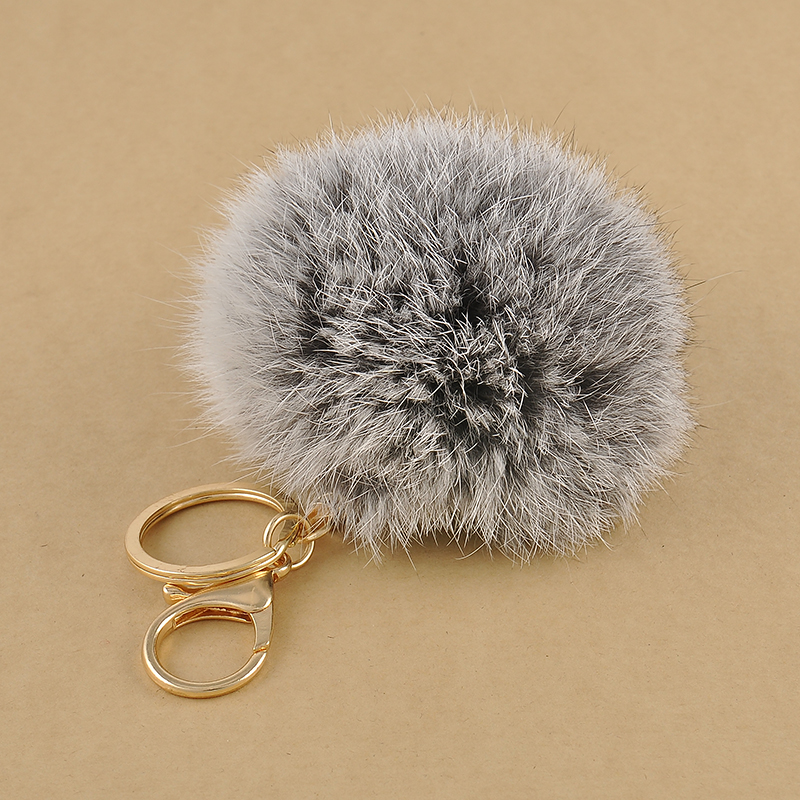 1 Pcs Lovely 8CM Rabbit fur ball plush key chain 6 Colors Ball Bag Car Ornaments Metal keychain Free shipping<br><br>Aliexpress